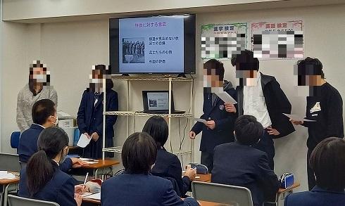 3年生 グループワーク発表会